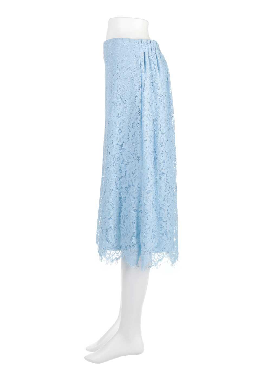 LayeredLaceMidiSkirt総レース・ミディスカート大人カジュアルに最適な海外ファッションのothers(その他インポートアイテム)のボトムやスカート。フェミニンな総レースが可愛いミディ丈スカート。レースの透け感と裏地のサテンの淡い光沢感の組み合わせが春らしいアイテムです。/main-7