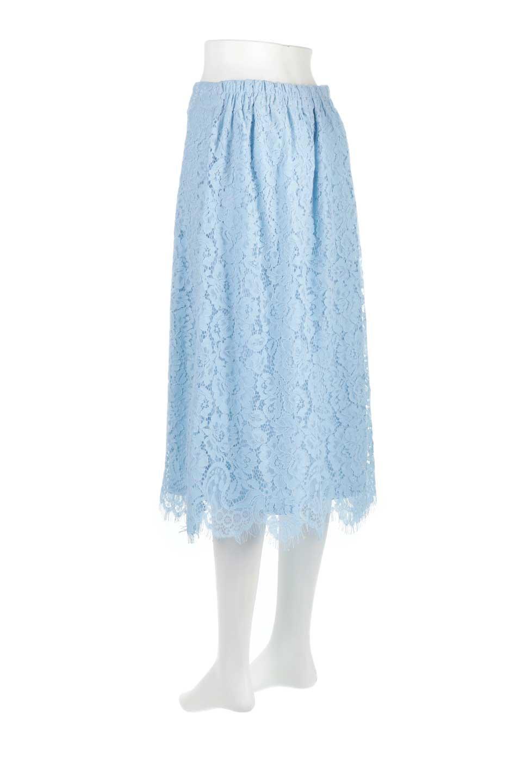 LayeredLaceMidiSkirt総レース・ミディスカート大人カジュアルに最適な海外ファッションのothers(その他インポートアイテム)のボトムやスカート。フェミニンな総レースが可愛いミディ丈スカート。レースの透け感と裏地のサテンの淡い光沢感の組み合わせが春らしいアイテムです。/main-8