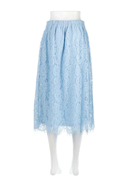 LayeredLaceMidiSkirt総レース・ミディスカート大人カジュアルに最適な海外ファッションのothers(その他インポートアイテム)のボトムやスカート。フェミニンな総レースが可愛いミディ丈スカート。レースの透け感と裏地のサテンの淡い光沢感の組み合わせが春らしいアイテムです。/main-9