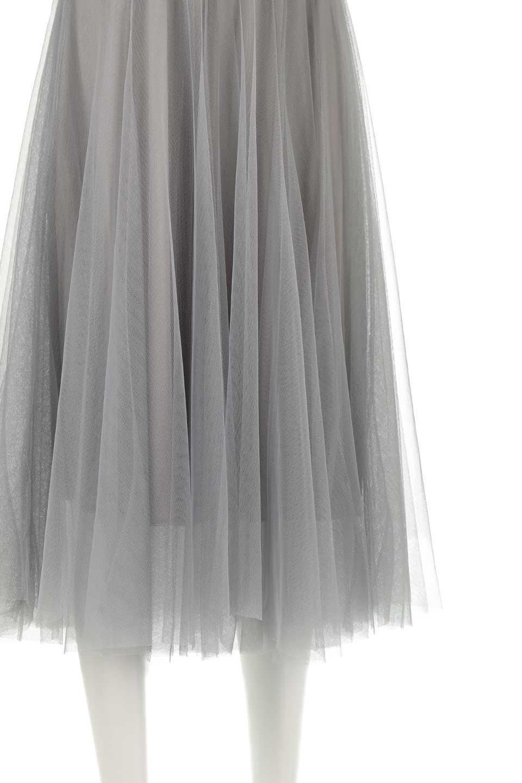 TulleMidiSkirtチュールレース・ミディスカート大人カジュアルに最適な海外ファッションのothers(その他インポートアイテム)のボトムやスカート。フワッとしたシルエットが可愛いチュールスカート。チュールは2層になっているのでしっかりとAラインを作り出してくれます。/main-18