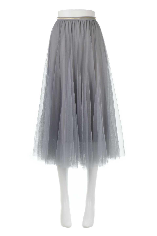 TulleMidiSkirtチュールレース・ミディスカート大人カジュアルに最適な海外ファッションのothers(その他インポートアイテム)のボトムやスカート。フワッとしたシルエットが可愛いチュールスカート。チュールは2層になっているのでしっかりとAラインを作り出してくれます。/main-5