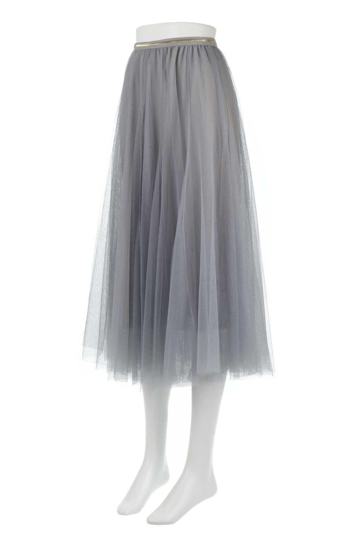 TulleMidiSkirtチュールレース・ミディスカート大人カジュアルに最適な海外ファッションのothers(その他インポートアイテム)のボトムやスカート。フワッとしたシルエットが可愛いチュールスカート。チュールは2層になっているのでしっかりとAラインを作り出してくれます。/main-6