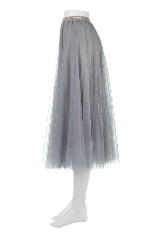 TulleMidiSkirtチュールレース・ミディスカート大人カジュアルに最適な海外ファッションのothers(その他インポートアイテム)のボトムやスカート。フワッとしたシルエットが可愛いチュールスカート。チュールは2層になっているのでしっかりとAラインを作り出してくれます。/main-7
