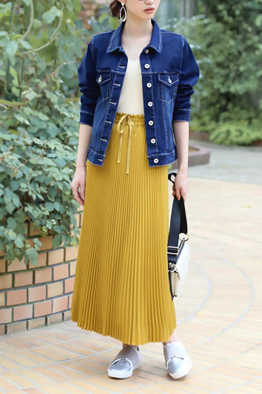 PleatedSkirtLongSkirtハイウエスト・プリーツロングスカート大人カジュアルに最適な海外ファッションのothers(その他インポートアイテム)のボトムやスカート。細めのアコーディオンプリーツがとてもきれいなロングスカート。Aラインのデザインですが広がりすぎない美しいシルエットです。/main-25