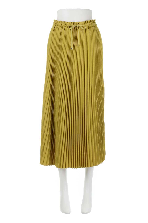 PleatedSkirtLongSkirtハイウエスト・プリーツロングスカート大人カジュアルに最適な海外ファッションのothers(その他インポートアイテム)のボトムやスカート。細めのアコーディオンプリーツがとてもきれいなロングスカート。Aラインのデザインですが広がりすぎない美しいシルエットです。/main-5