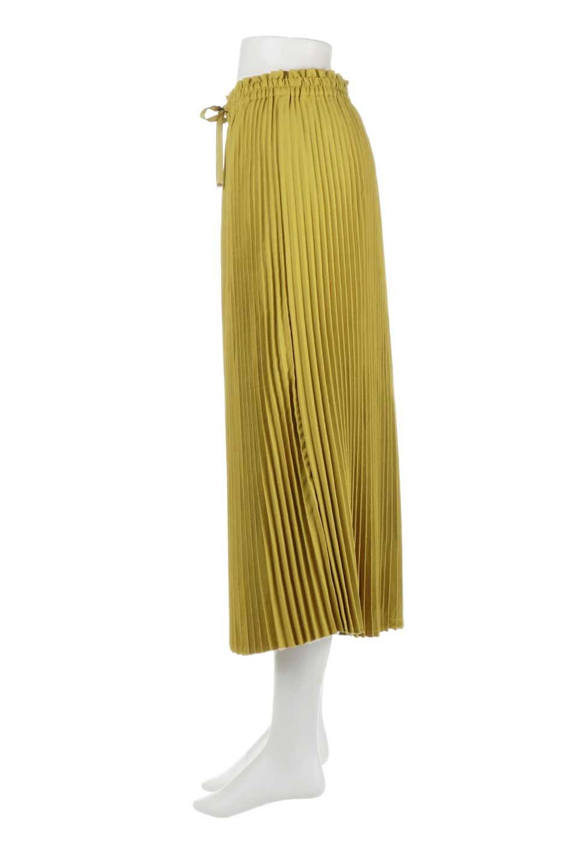 PleatedSkirtLongSkirtハイウエスト・プリーツロングスカート大人カジュアルに最適な海外ファッションのothers(その他インポートアイテム)のボトムやスカート。細めのアコーディオンプリーツがとてもきれいなロングスカート。Aラインのデザインですが広がりすぎない美しいシルエットです。/main-7