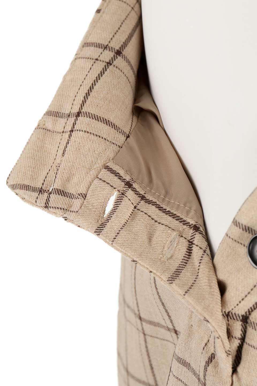 SideButtonWideCheckPantsサイドボタン・チェック柄ワイドパンツ大人カジュアルに最適な海外ファッションのothers(その他インポートアイテム)のボトムやパンツ。春らしいソフトな風合いの生地を使用したワイドパンツ。薄手の生地ですが裾まで裏地付きなので安心です。/main-23