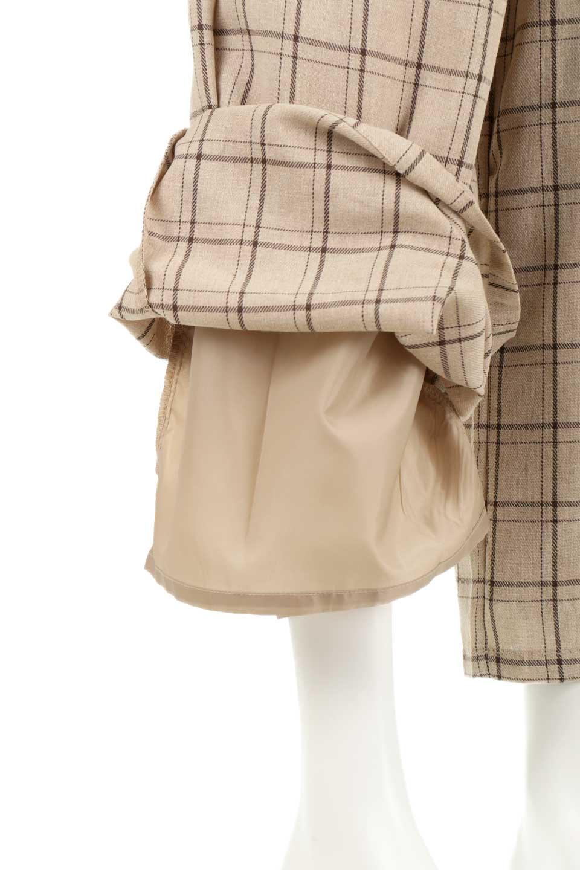 SideButtonWideCheckPantsサイドボタン・チェック柄ワイドパンツ大人カジュアルに最適な海外ファッションのothers(その他インポートアイテム)のボトムやパンツ。春らしいソフトな風合いの生地を使用したワイドパンツ。薄手の生地ですが裾まで裏地付きなので安心です。/main-25