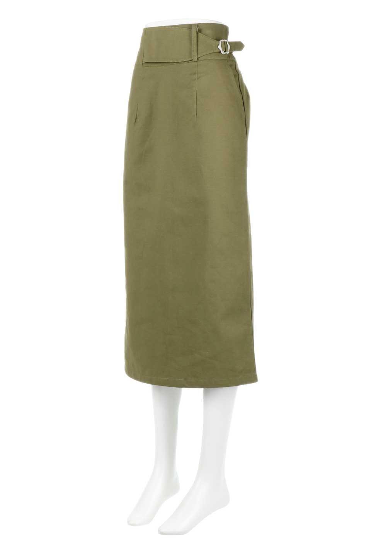 CottonTwillGurkhaSkirtミディ丈・グルカスカート大人カジュアルに最適な海外ファッションのothers(その他インポートアイテム)のボトムやスカート。ウエスト回りに特徴があるグルカの仕様をアレンジしたスカート。しっかりしたツイル生地なのでセミタイトのシルエットをきれいに見せてくれます。/main-11
