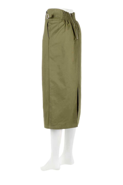 CottonTwillGurkhaSkirtミディ丈・グルカスカート大人カジュアルに最適な海外ファッションのothers(その他インポートアイテム)のボトムやスカート。ウエスト回りに特徴があるグルカの仕様をアレンジしたスカート。しっかりしたツイル生地なのでセミタイトのシルエットをきれいに見せてくれます。/main-13