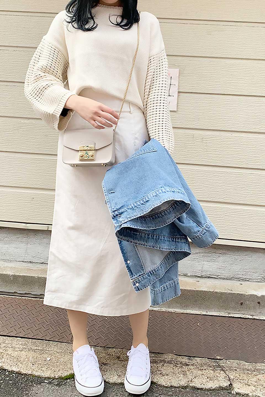CottonTwillGurkhaSkirtミディ丈・グルカスカート大人カジュアルに最適な海外ファッションのothers(その他インポートアイテム)のボトムやスカート。ウエスト回りに特徴があるグルカの仕様をアレンジしたスカート。しっかりしたツイル生地なのでセミタイトのシルエットをきれいに見せてくれます。/main-23