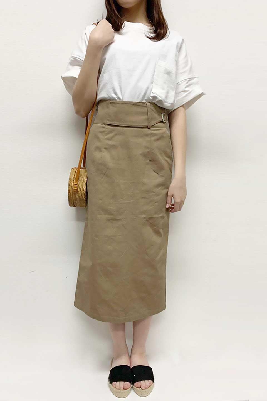 CottonTwillGurkhaSkirtミディ丈・グルカスカート大人カジュアルに最適な海外ファッションのothers(その他インポートアイテム)のボトムやスカート。ウエスト回りに特徴があるグルカの仕様をアレンジしたスカート。しっかりしたツイル生地なのでセミタイトのシルエットをきれいに見せてくれます。/main-25