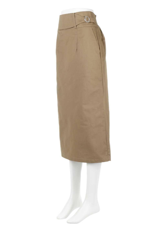 CottonTwillGurkhaSkirtミディ丈・グルカスカート大人カジュアルに最適な海外ファッションのothers(その他インポートアイテム)のボトムやスカート。ウエスト回りに特徴があるグルカの仕様をアレンジしたスカート。しっかりしたツイル生地なのでセミタイトのシルエットをきれいに見せてくれます。/main-6