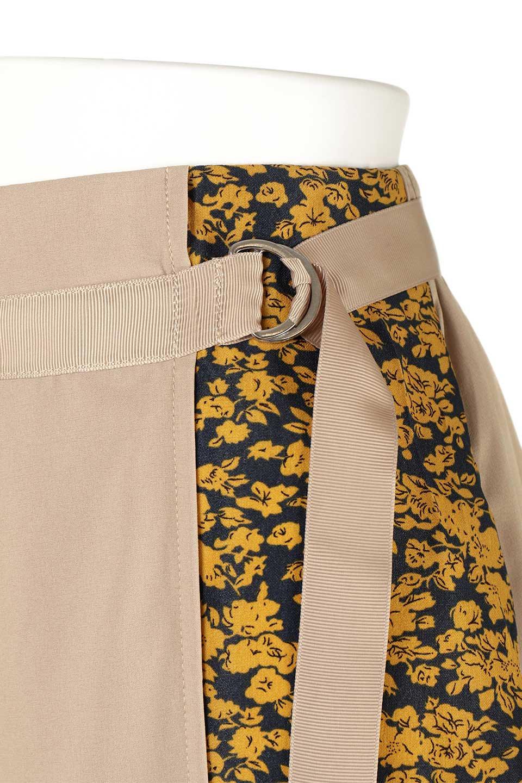 FloralPanelLongWrappedSkirt花柄切り替え・バイカラーラップスカート大人カジュアルに最適な海外ファッションのothers(その他インポートアイテム)のボトムやスカート。大胆な花柄の切り替えがアクセントのラップスカート。柔らかな素材でドレープ感が楽しめます。/main-11