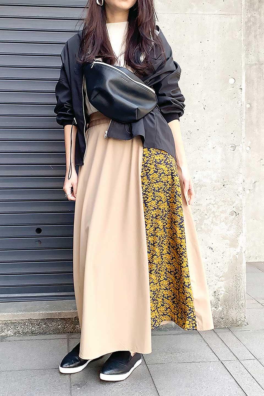 FloralPanelLongWrappedSkirt花柄切り替え・バイカラーラップスカート大人カジュアルに最適な海外ファッションのothers(その他インポートアイテム)のボトムやスカート。大胆な花柄の切り替えがアクセントのラップスカート。柔らかな素材でドレープ感が楽しめます。/main-21