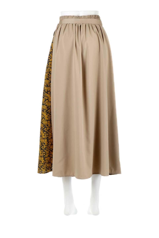 FloralPanelLongWrappedSkirt花柄切り替え・バイカラーラップスカート大人カジュアルに最適な海外ファッションのothers(その他インポートアイテム)のボトムやスカート。大胆な花柄の切り替えがアクセントのラップスカート。柔らかな素材でドレープ感が楽しめます。/main-9