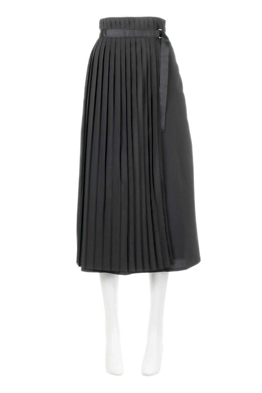 PleatedWrapSkirtプリーツ入り・ラップスカート大人カジュアルに最適な海外ファッションのothers(その他インポートアイテム)のボトムやスカート。柔らかく軽やかなポリエステル素材を使用したラッププリーツスカート。きれいなラインをキープしてくれる、程よいハリ感もおすすめポイントです。/main-10