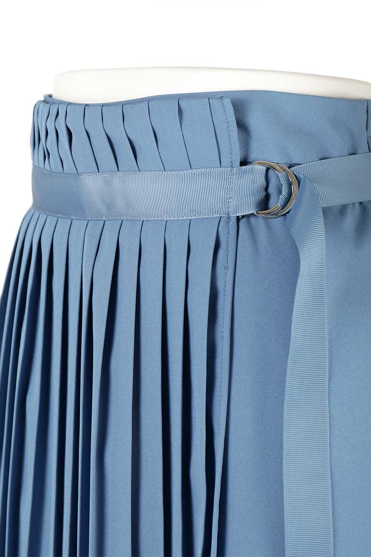 PleatedWrapSkirtプリーツ入り・ラップスカート大人カジュアルに最適な海外ファッションのothers(その他インポートアイテム)のボトムやスカート。柔らかく軽やかなポリエステル素材を使用したラッププリーツスカート。きれいなラインをキープしてくれる、程よいハリ感もおすすめポイントです。/main-16