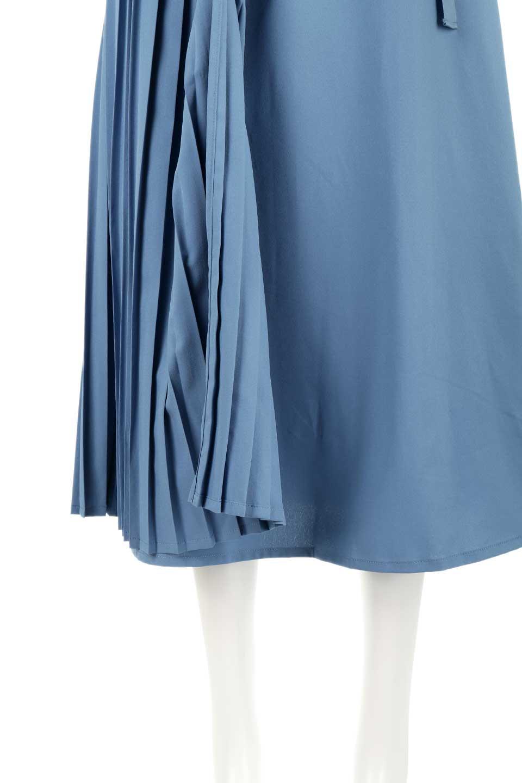 PleatedWrapSkirtプリーツ入り・ラップスカート大人カジュアルに最適な海外ファッションのothers(その他インポートアイテム)のボトムやスカート。柔らかく軽やかなポリエステル素材を使用したラッププリーツスカート。きれいなラインをキープしてくれる、程よいハリ感もおすすめポイントです。/main-19