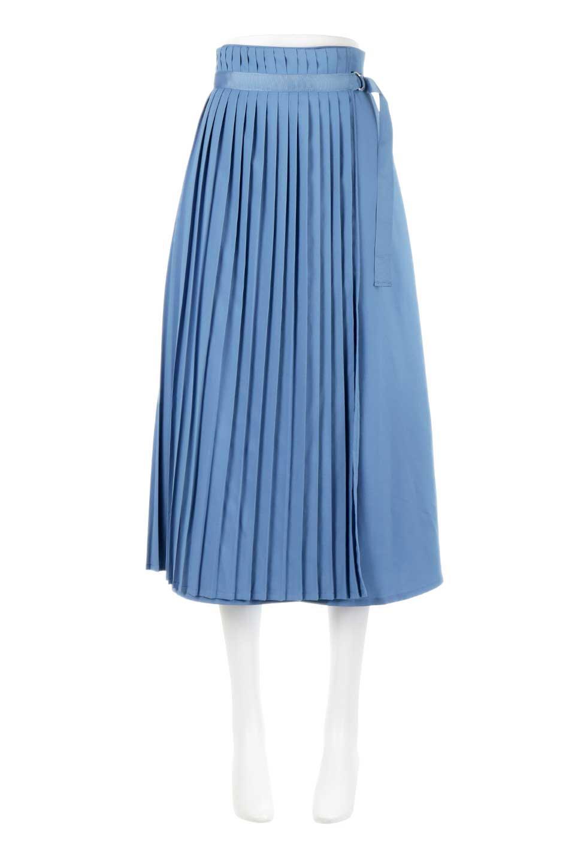 PleatedWrapSkirtプリーツ入り・ラップスカート大人カジュアルに最適な海外ファッションのothers(その他インポートアイテム)のボトムやスカート。柔らかく軽やかなポリエステル素材を使用したラッププリーツスカート。きれいなラインをキープしてくれる、程よいハリ感もおすすめポイントです。/main-5