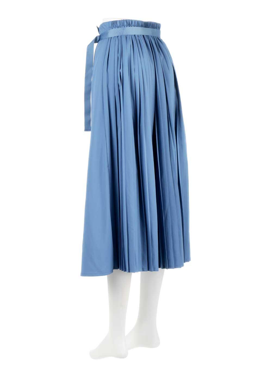 PleatedWrapSkirtプリーツ入り・ラップスカート大人カジュアルに最適な海外ファッションのothers(その他インポートアイテム)のボトムやスカート。柔らかく軽やかなポリエステル素材を使用したラッププリーツスカート。きれいなラインをキープしてくれる、程よいハリ感もおすすめポイントです。/main-8