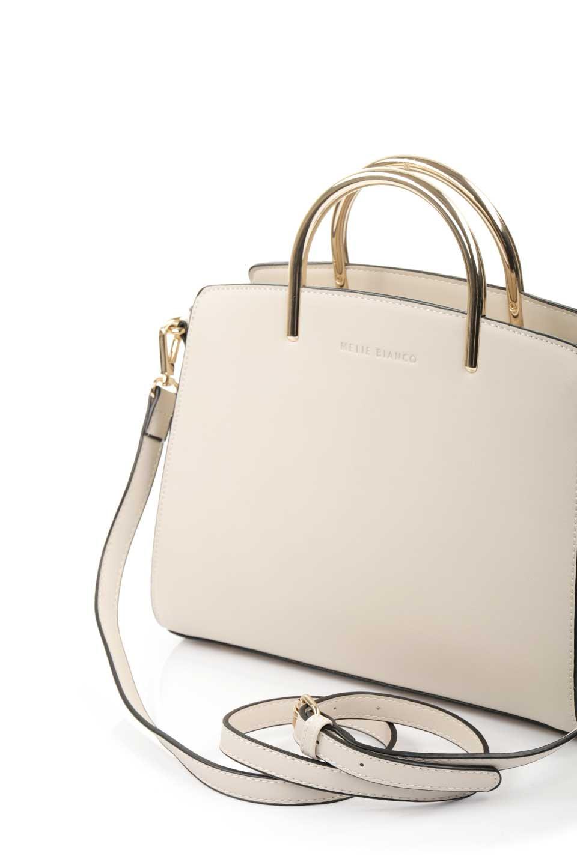 meliebiancoのEileen(Bone)ゴールドハンドル・ハンドバッグ/海外ファッション好きにオススメのインポートバッグとかばん、MelieBianco(メリービアンコ)のバッグやハンドバッグ。仕事用としても使える上品ハンドバッグ。手頃なサイズ感で広めのマチが嬉しいバッグです。/main-10