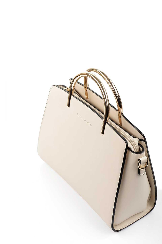 meliebiancoのEileen(Bone)ゴールドハンドル・ハンドバッグ/海外ファッション好きにオススメのインポートバッグとかばん、MelieBianco(メリービアンコ)のバッグやハンドバッグ。仕事用としても使える上品ハンドバッグ。手頃なサイズ感で広めのマチが嬉しいバッグです。/main-5
