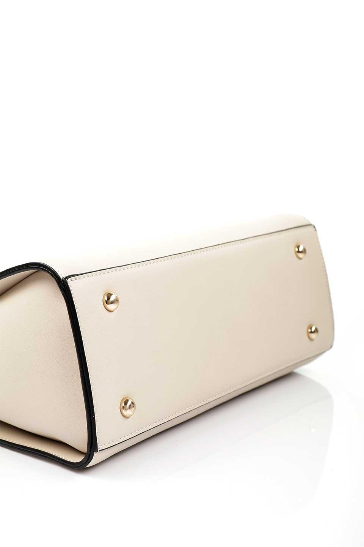 meliebiancoのEileen(Bone)ゴールドハンドル・ハンドバッグ/海外ファッション好きにオススメのインポートバッグとかばん、MelieBianco(メリービアンコ)のバッグやハンドバッグ。仕事用としても使える上品ハンドバッグ。手頃なサイズ感で広めのマチが嬉しいバッグです。/main-7
