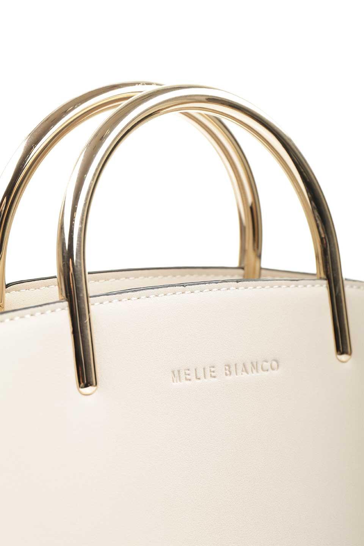 meliebiancoのEileen(Bone)ゴールドハンドル・ハンドバッグ/海外ファッション好きにオススメのインポートバッグとかばん、MelieBianco(メリービアンコ)のバッグやハンドバッグ。仕事用としても使える上品ハンドバッグ。手頃なサイズ感で広めのマチが嬉しいバッグです。/main-8