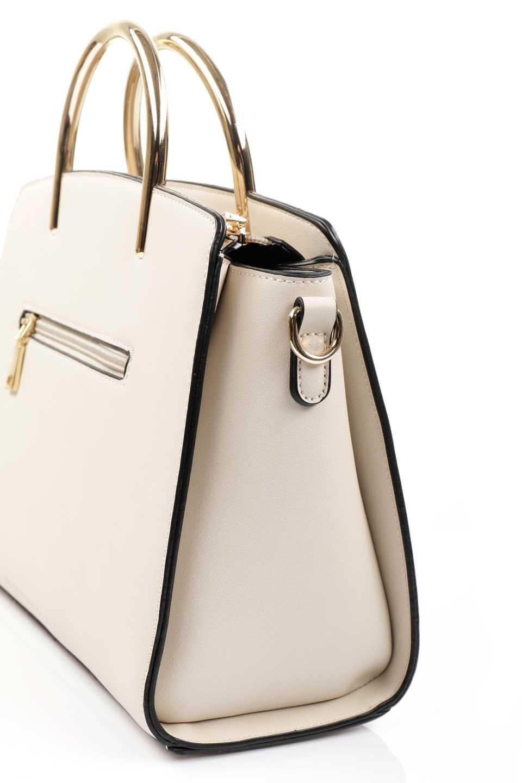meliebiancoのEileen(Bone)ゴールドハンドル・ハンドバッグ/海外ファッション好きにオススメのインポートバッグとかばん、MelieBianco(メリービアンコ)のバッグやハンドバッグ。仕事用としても使える上品ハンドバッグ。手頃なサイズ感で広めのマチが嬉しいバッグです。/main-9