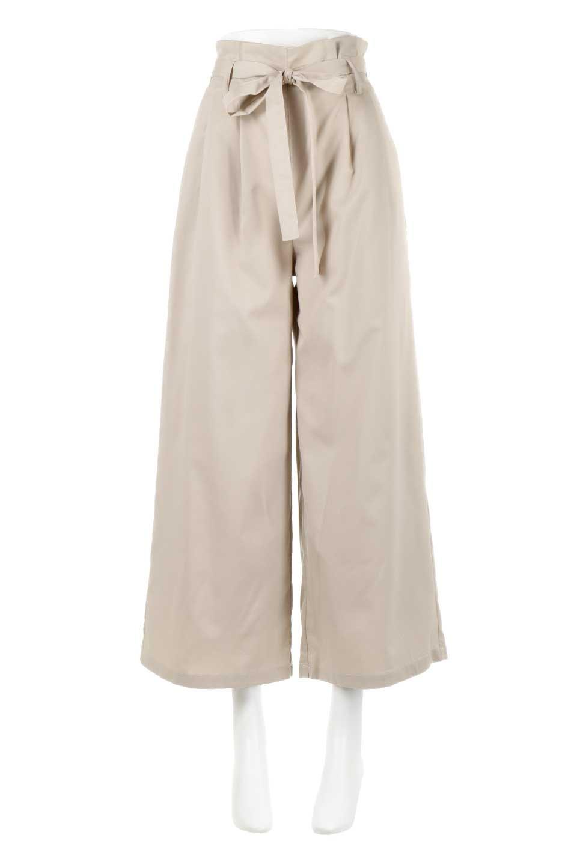 RibbonTiedWideLegPantsレーヨン混・リボンワイドパンツ大人カジュアルに最適な海外ファッションのothers(その他インポートアイテム)のボトムやパンツ。春らしいソフトな風合いの生地を使用したワイドパンツ。レーヨン混のサラリとした風合いのワイドパンツ。