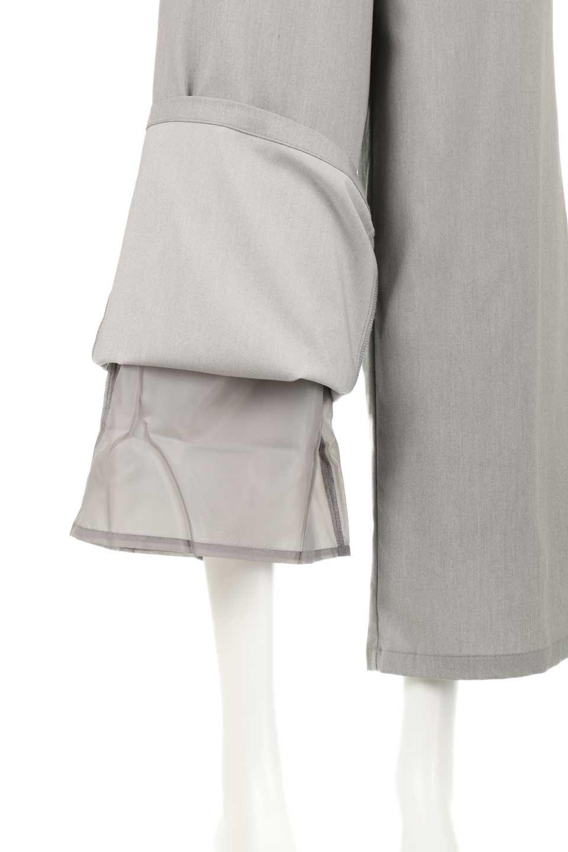 RibbonTiedWideLegPantsレーヨン混・リボンワイドパンツ大人カジュアルに最適な海外ファッションのothers(その他インポートアイテム)のボトムやパンツ。春らしいソフトな風合いの生地を使用したワイドパンツ。レーヨン混のサラリとした風合いのワイドパンツ。/main-15