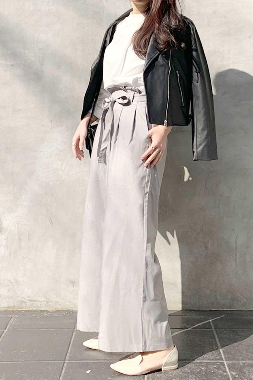 RibbonTiedWideLegPantsレーヨン混・リボンワイドパンツ大人カジュアルに最適な海外ファッションのothers(その他インポートアイテム)のボトムやパンツ。春らしいソフトな風合いの生地を使用したワイドパンツ。レーヨン混のサラリとした風合いのワイドパンツ。/main-18
