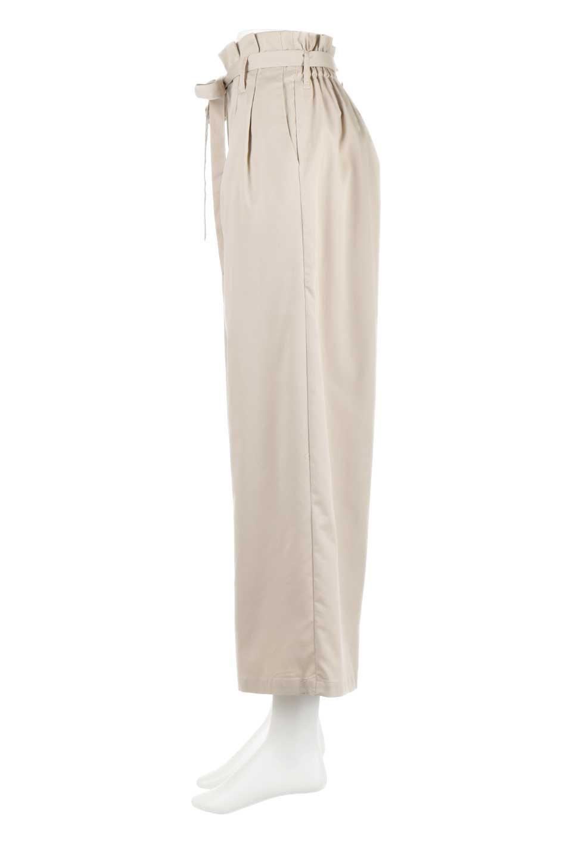 RibbonTiedWideLegPantsレーヨン混・リボンワイドパンツ大人カジュアルに最適な海外ファッションのothers(その他インポートアイテム)のボトムやパンツ。春らしいソフトな風合いの生地を使用したワイドパンツ。レーヨン混のサラリとした風合いのワイドパンツ。/main-2