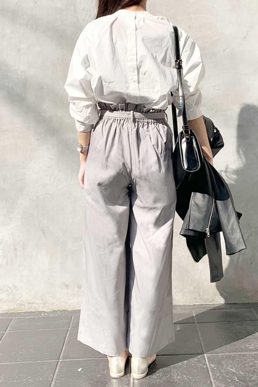 RibbonTiedWideLegPantsレーヨン混・リボンワイドパンツ大人カジュアルに最適な海外ファッションのothers(その他インポートアイテム)のボトムやパンツ。春らしいソフトな風合いの生地を使用したワイドパンツ。レーヨン混のサラリとした風合いのワイドパンツ。/main-20