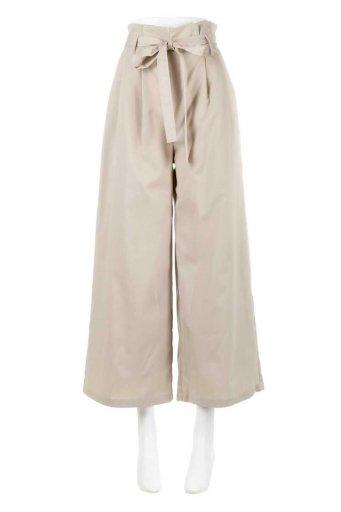 Ribbon Tied Wide Leg Pants レーヨン混・リボンワイドパンツ / 大人カジュアルに最適な海外ファッションが得意な福島市のセレクトショップbloom