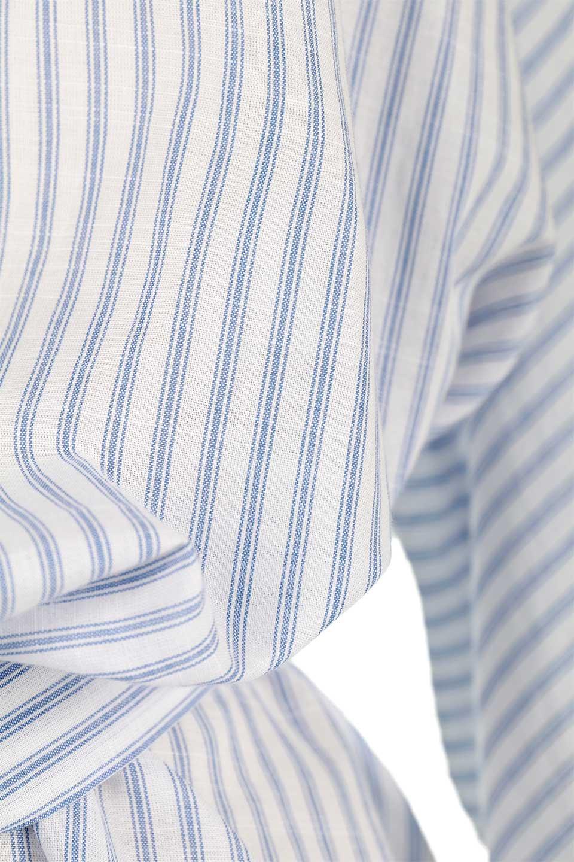 WaistTieUpStripedBlouseウエストリボン・ストライプブラウスfromDenmark大人カジュアルに最適な海外ファッションのothers(その他インポートアイテム)のトップスやシャツ・ブラウス。首元が前後に大きく開いたデザインが特徴のストライプブラウス。リボンは前後どちらでも楽しめます。/main-10