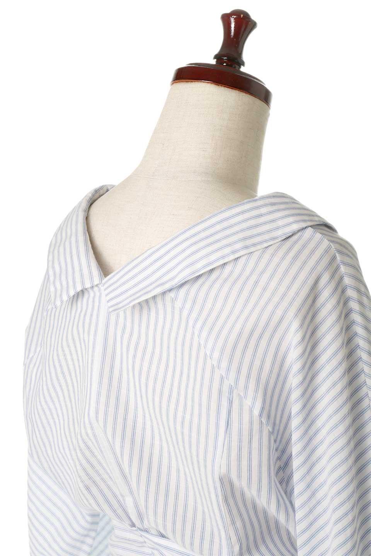 WaistTieUpStripedBlouseウエストリボン・ストライプブラウスfromDenmark大人カジュアルに最適な海外ファッションのothers(その他インポートアイテム)のトップスやシャツ・ブラウス。首元が前後に大きく開いたデザインが特徴のストライプブラウス。リボンは前後どちらでも楽しめます。/main-7