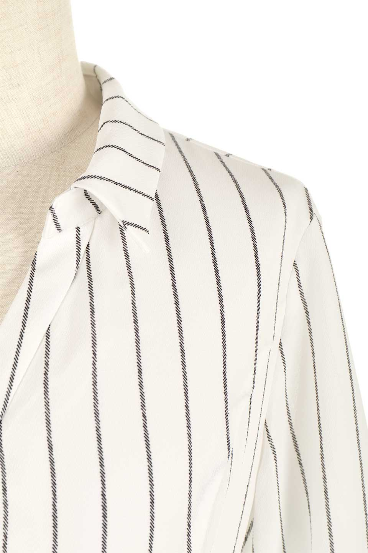 HandWrittenStripedShirtDressストライプ・シャツワンピースfromDenmark大人カジュアルに最適な海外ファッションのothers(その他インポートアイテム)のワンピースやミディワンピース。春夏の爽やかな時期にぴったりなシャツワンピース。大人っぽいスキッパーカラー、カジュアルなストライプ柄、ヒラヒラ揺れるフェミニンな裾のデザイン。/main-7