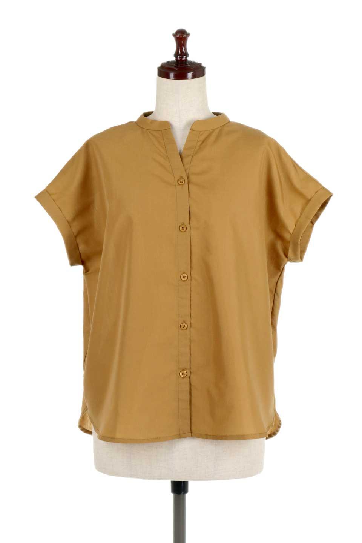 BackGatheredLoseBlouseバックギャザー・半袖ブラウス大人カジュアルに最適な海外ファッションのothers(その他インポートアイテム)のトップスやシャツ・ブラウス。春の装いにピッタリの大きめブラウス。背中のギャザーがバックスタイルを可愛く見せてくれます。/main-10