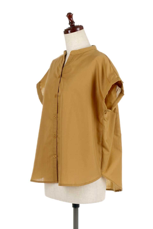BackGatheredLoseBlouseバックギャザー・半袖ブラウス大人カジュアルに最適な海外ファッションのothers(その他インポートアイテム)のトップスやシャツ・ブラウス。春の装いにピッタリの大きめブラウス。背中のギャザーがバックスタイルを可愛く見せてくれます。/main-11