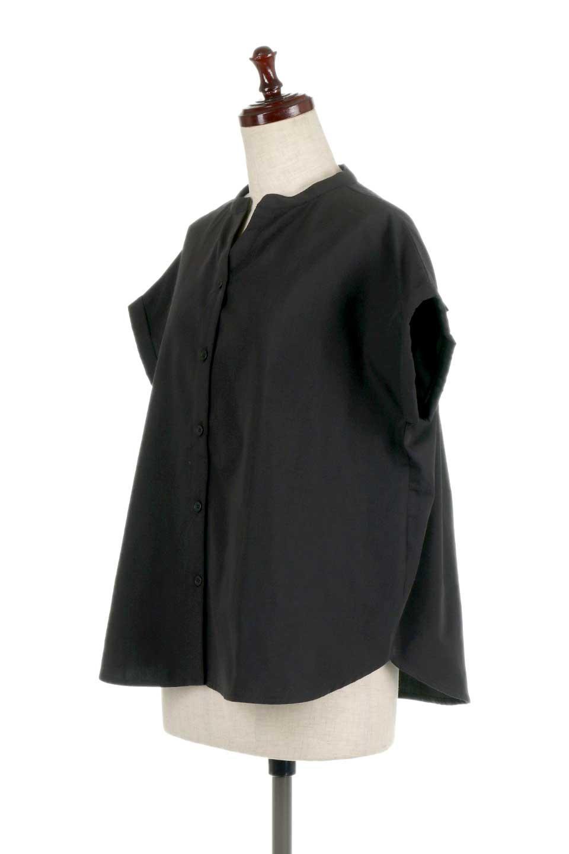 BackGatheredLoseBlouseバックギャザー・半袖ブラウス大人カジュアルに最適な海外ファッションのothers(その他インポートアイテム)のトップスやシャツ・ブラウス。春の装いにピッタリの大きめブラウス。背中のギャザーがバックスタイルを可愛く見せてくれます。/main-16