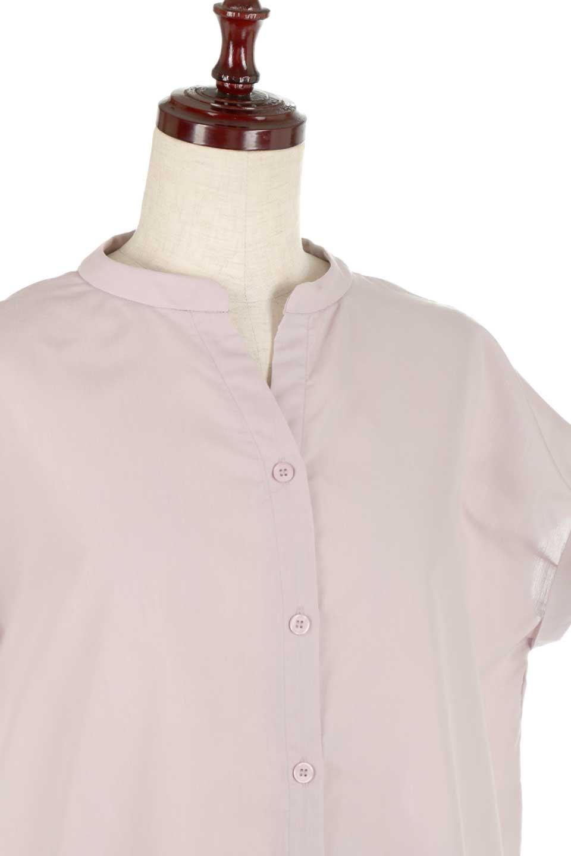 BackGatheredLoseBlouseバックギャザー・半袖ブラウス大人カジュアルに最適な海外ファッションのothers(その他インポートアイテム)のトップスやシャツ・ブラウス。春の装いにピッタリの大きめブラウス。背中のギャザーがバックスタイルを可愛く見せてくれます。/main-20
