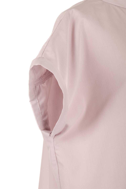 BackGatheredLoseBlouseバックギャザー・半袖ブラウス大人カジュアルに最適な海外ファッションのothers(その他インポートアイテム)のトップスやシャツ・ブラウス。春の装いにピッタリの大きめブラウス。背中のギャザーがバックスタイルを可愛く見せてくれます。/main-22