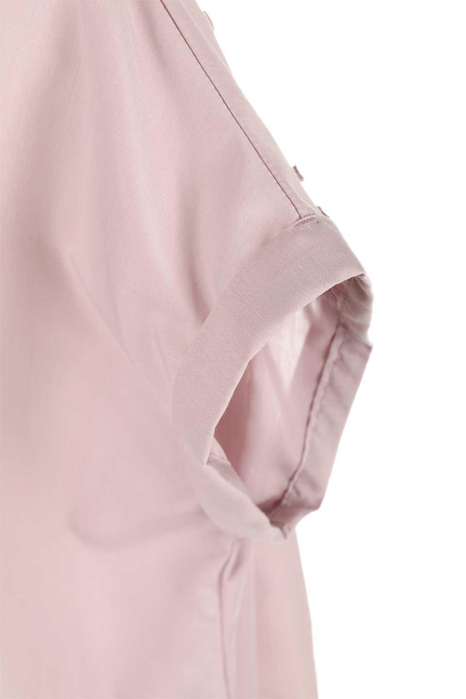 BackGatheredLoseBlouseバックギャザー・半袖ブラウス大人カジュアルに最適な海外ファッションのothers(その他インポートアイテム)のトップスやシャツ・ブラウス。春の装いにピッタリの大きめブラウス。背中のギャザーがバックスタイルを可愛く見せてくれます。/main-23