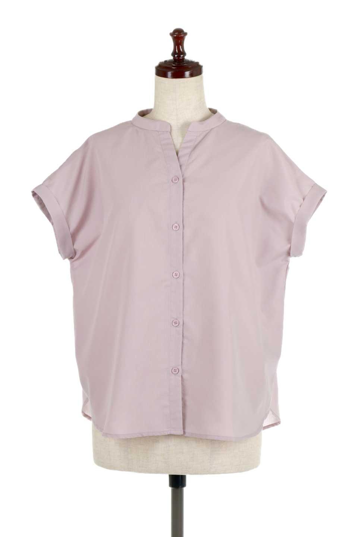 BackGatheredLoseBlouseバックギャザー・半袖ブラウス大人カジュアルに最適な海外ファッションのothers(その他インポートアイテム)のトップスやシャツ・ブラウス。春の装いにピッタリの大きめブラウス。背中のギャザーがバックスタイルを可愛く見せてくれます。/main-5