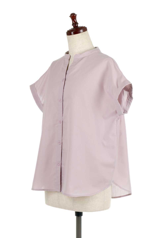 BackGatheredLoseBlouseバックギャザー・半袖ブラウス大人カジュアルに最適な海外ファッションのothers(その他インポートアイテム)のトップスやシャツ・ブラウス。春の装いにピッタリの大きめブラウス。背中のギャザーがバックスタイルを可愛く見せてくれます。/main-6