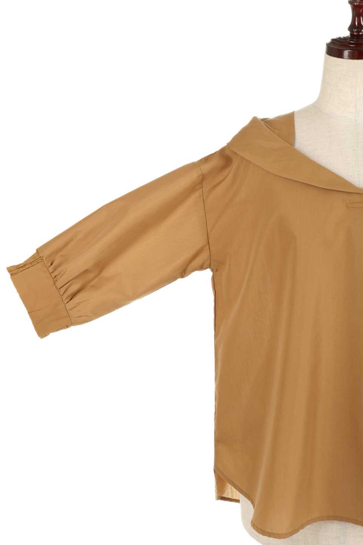 3/4SleeveFoldedCollarblouse7分袖・フォールドカラーブラウス大人カジュアルに最適な海外ファッションのothers(その他インポートアイテム)のトップスやシャツ・ブラウス。襟元が特徴のフォールドカラーブラウス。背中を抜いたときのシルエットが絶品の春ブラウス。/main-15
