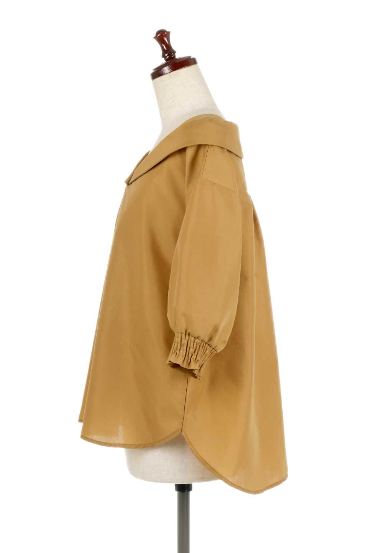 3/4SleeveFoldedCollarblouse7分袖・フォールドカラーブラウス大人カジュアルに最適な海外ファッションのothers(その他インポートアイテム)のトップスやシャツ・ブラウス。襟元が特徴のフォールドカラーブラウス。背中を抜いたときのシルエットが絶品の春ブラウス。/main-7