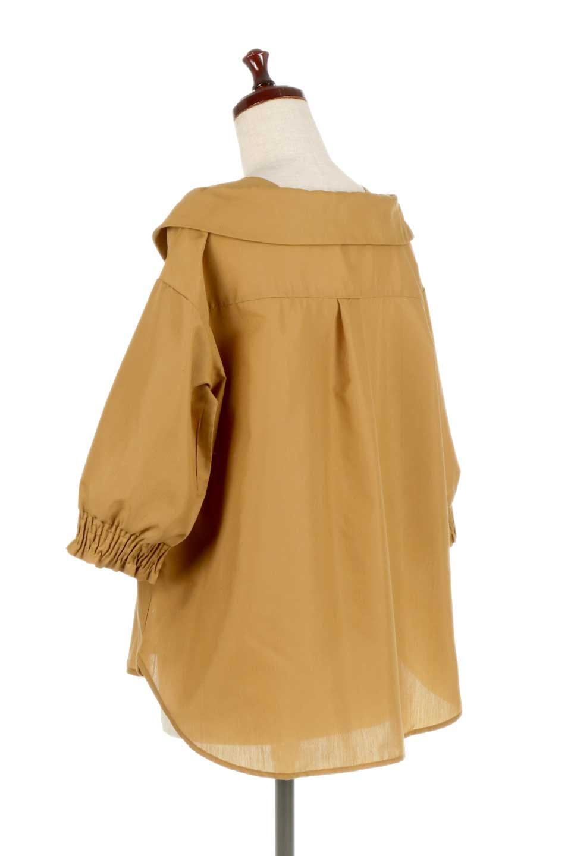 3/4SleeveFoldedCollarblouse7分袖・フォールドカラーブラウス大人カジュアルに最適な海外ファッションのothers(その他インポートアイテム)のトップスやシャツ・ブラウス。襟元が特徴のフォールドカラーブラウス。背中を抜いたときのシルエットが絶品の春ブラウス。/main-8